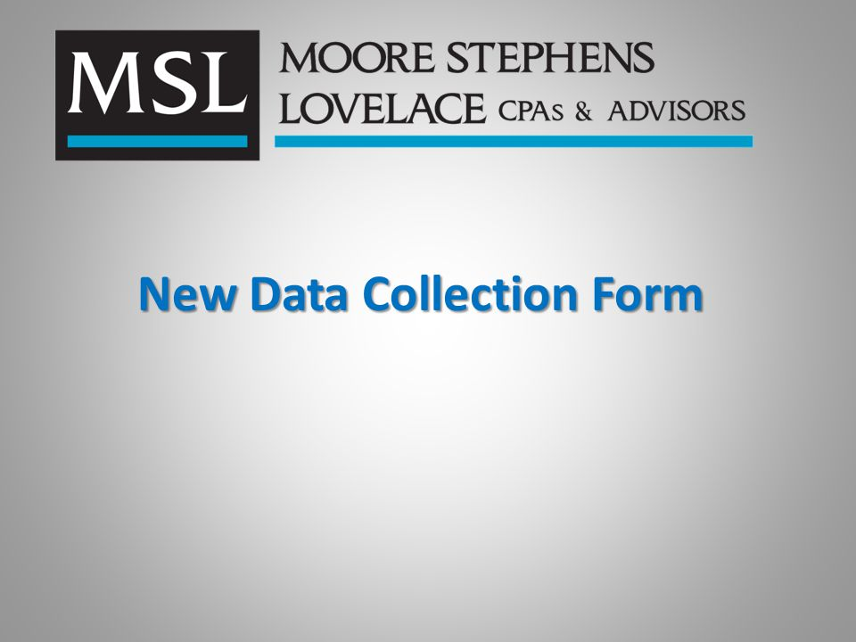New Data Collection Form