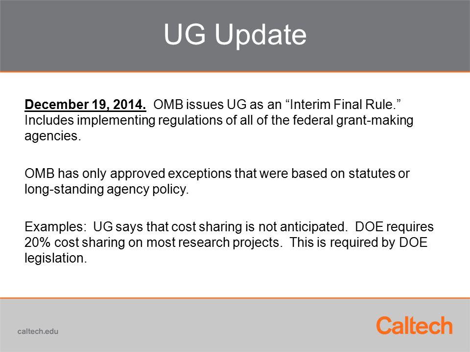UG Update December 19, 2014.