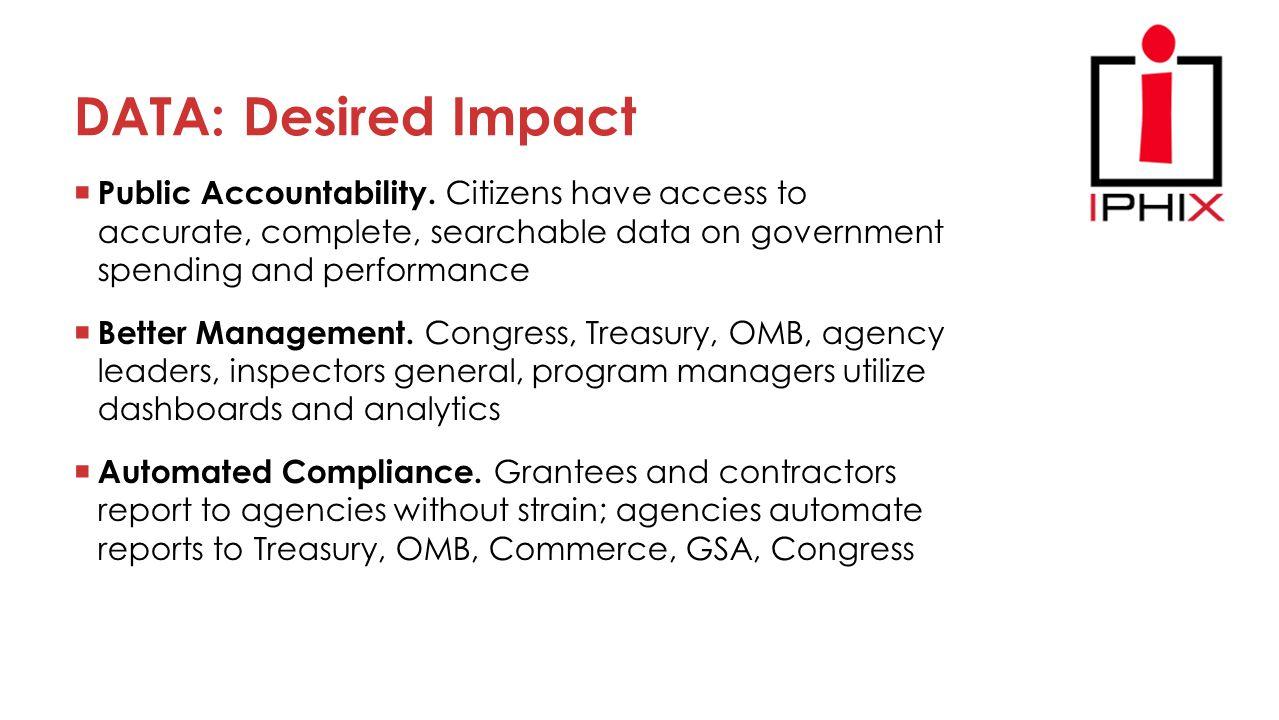 DATA: Desired Impact  Public Accountability.