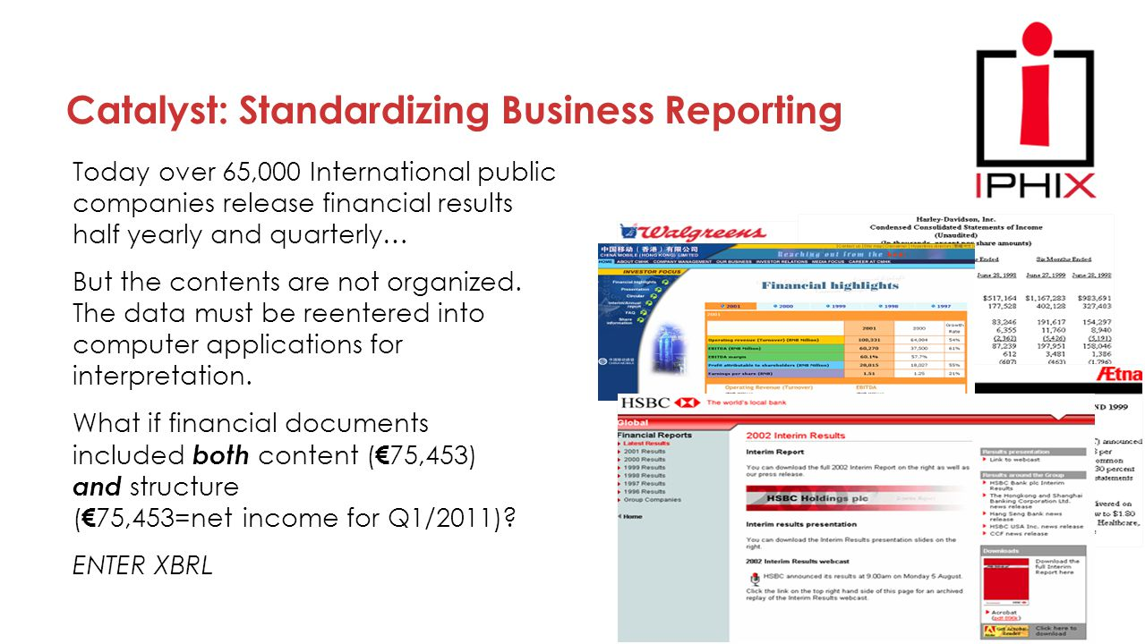 Today over 65,000 International public companies release financial results half yearly and quarterly… But the contents are not organized. The data mus