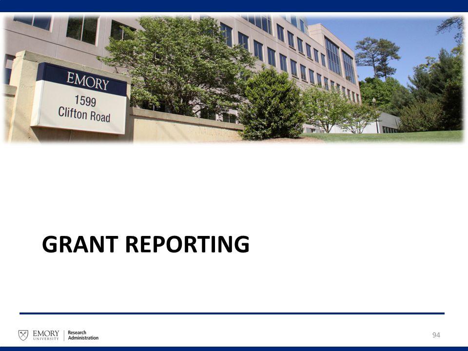GRANT REPORTING 94