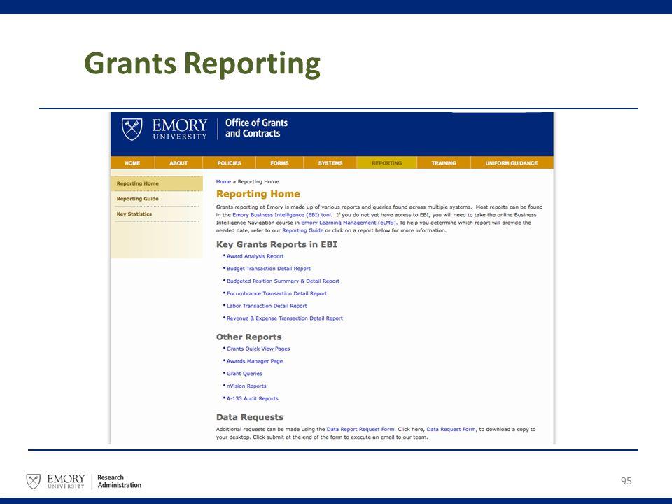 Grants Reporting 95