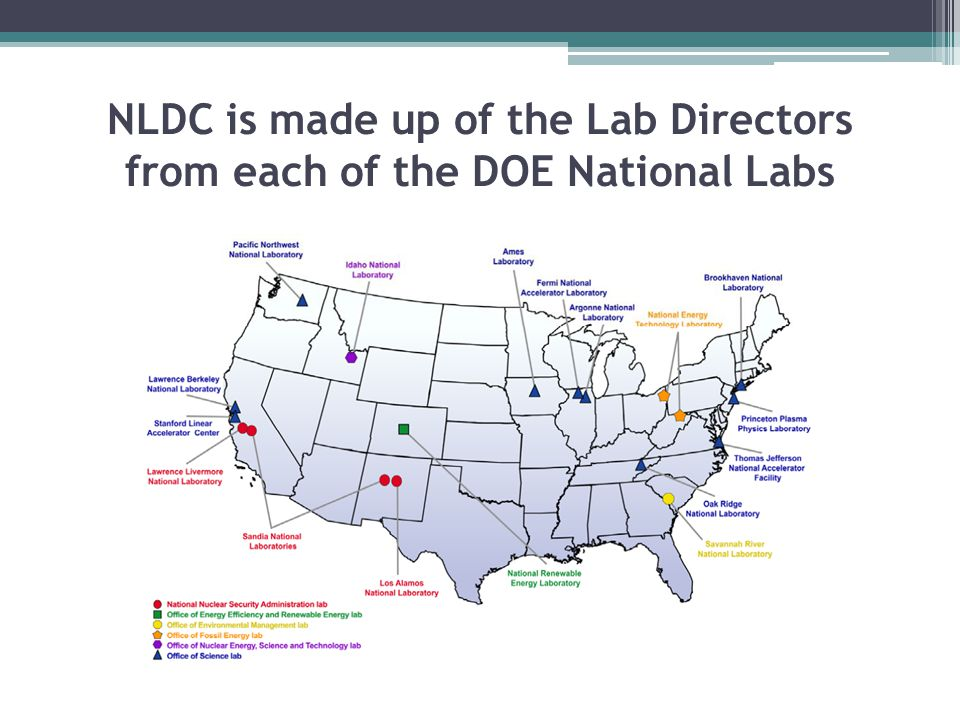 NLDC is made up of the Lab Directors from each of the DOE National Labs