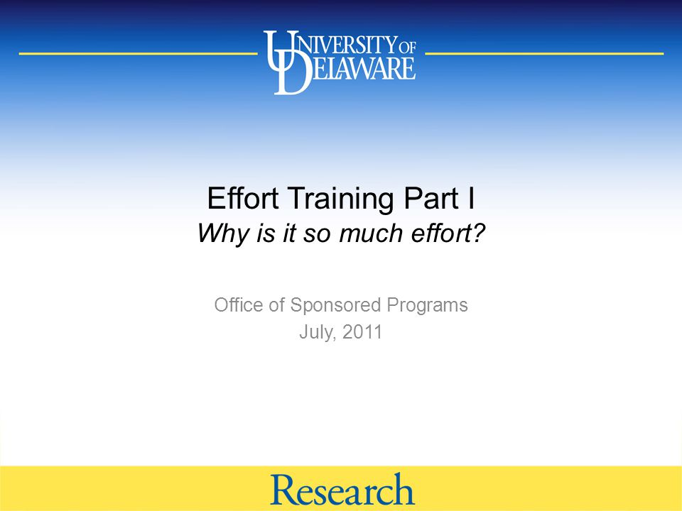 Total Compensation http://www.udel.edu/research 11 Effort provided for external sponsors Grants/Contracts External Research Writing proposals Journal review/editing Non sponsored research Departmental Research