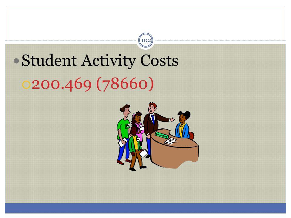 102 Student Activity Costs  200.469 (78660)