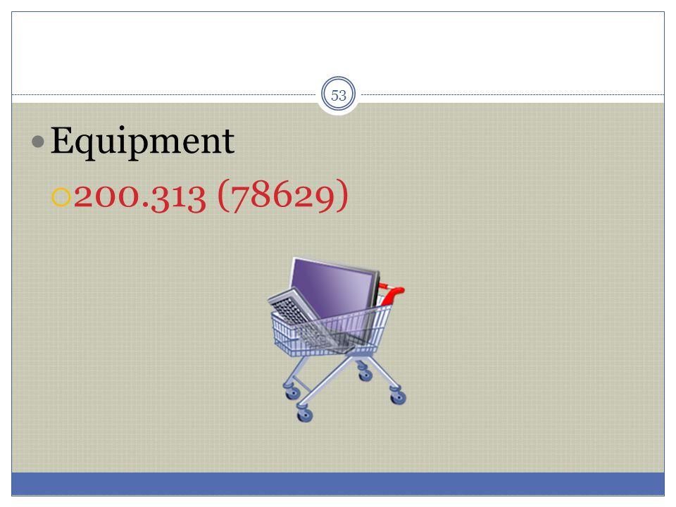 53 Equipment  200.313 (78629)