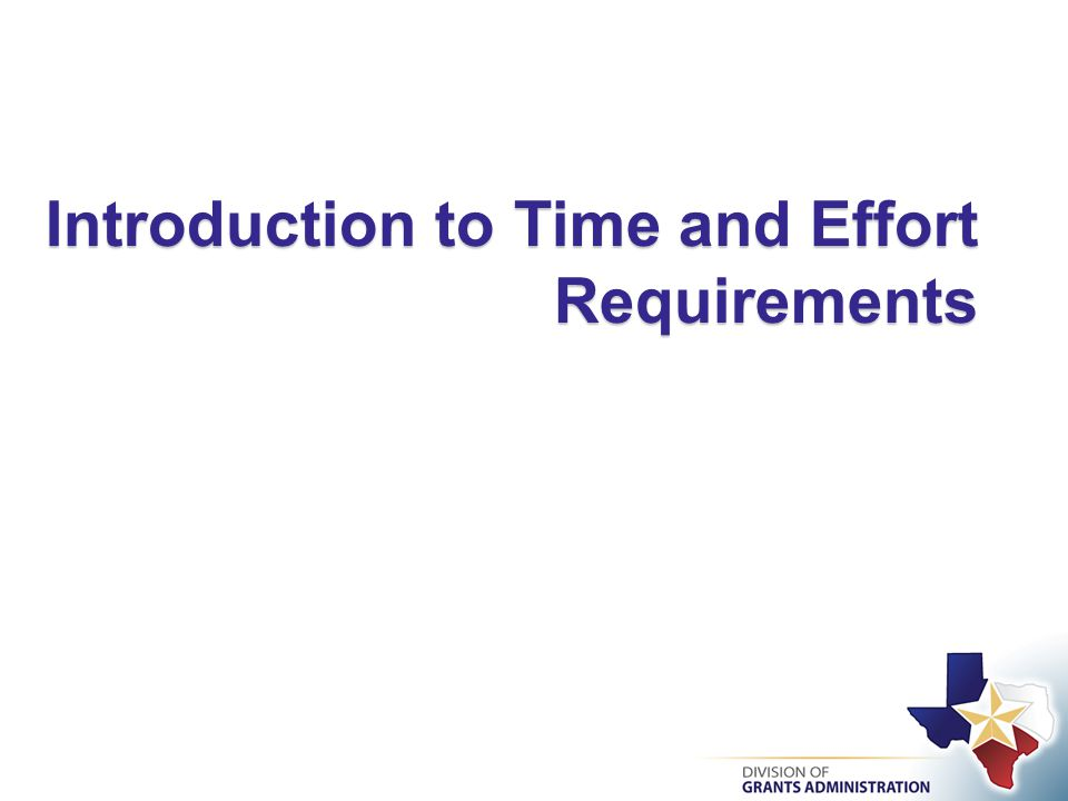 Introduction to Time and Effort Requirements