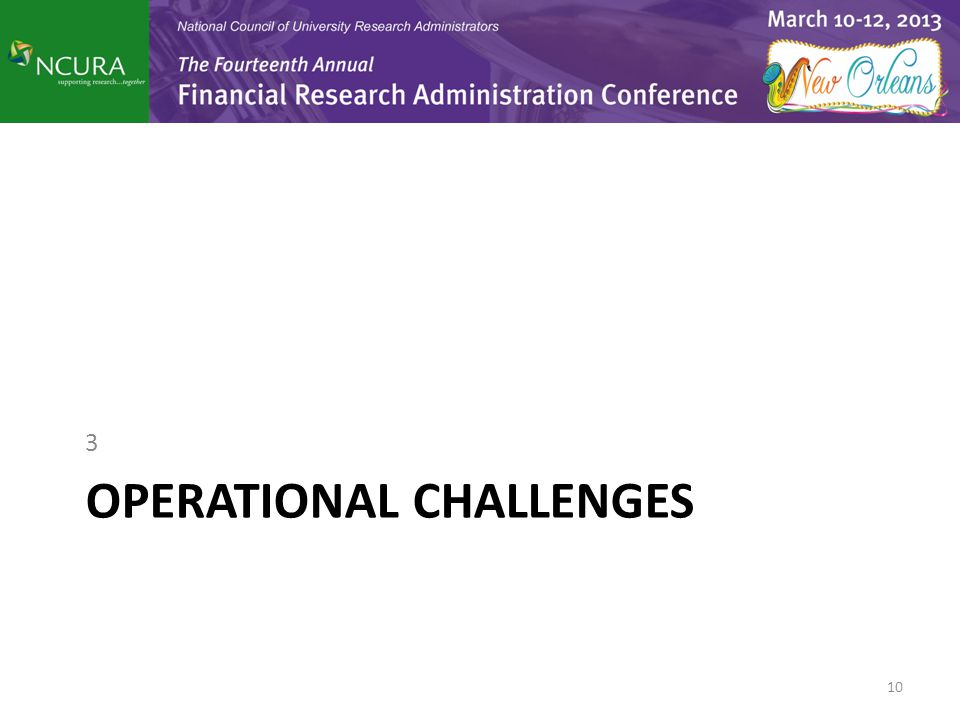 OPERATIONAL CHALLENGES 3 10