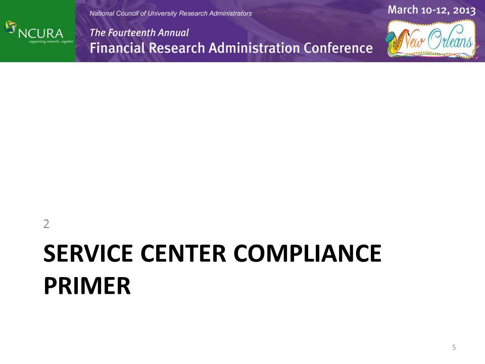 SERVICE CENTER COMPLIANCE PRIMER 2 5