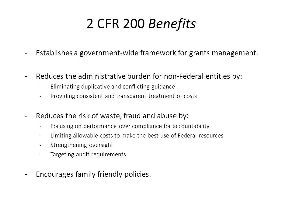2 CFR 200 Questions ?