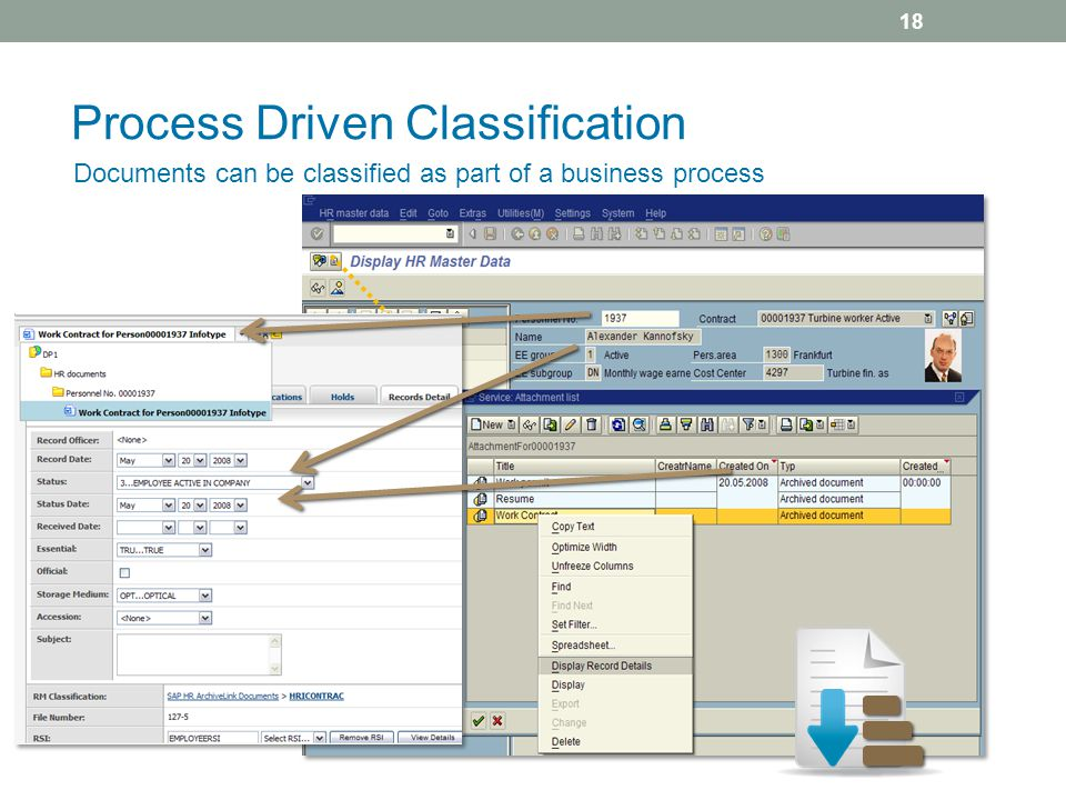 Process Driven Classification Documents can be classified as part of a business process 18