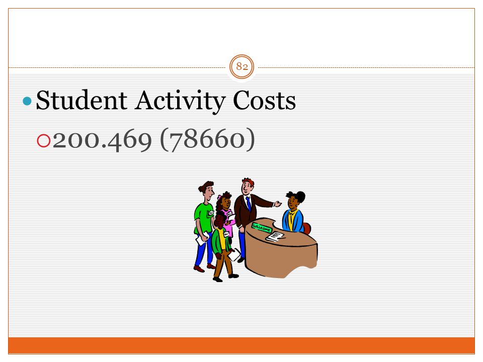 82 Student Activity Costs  200.469 (78660)