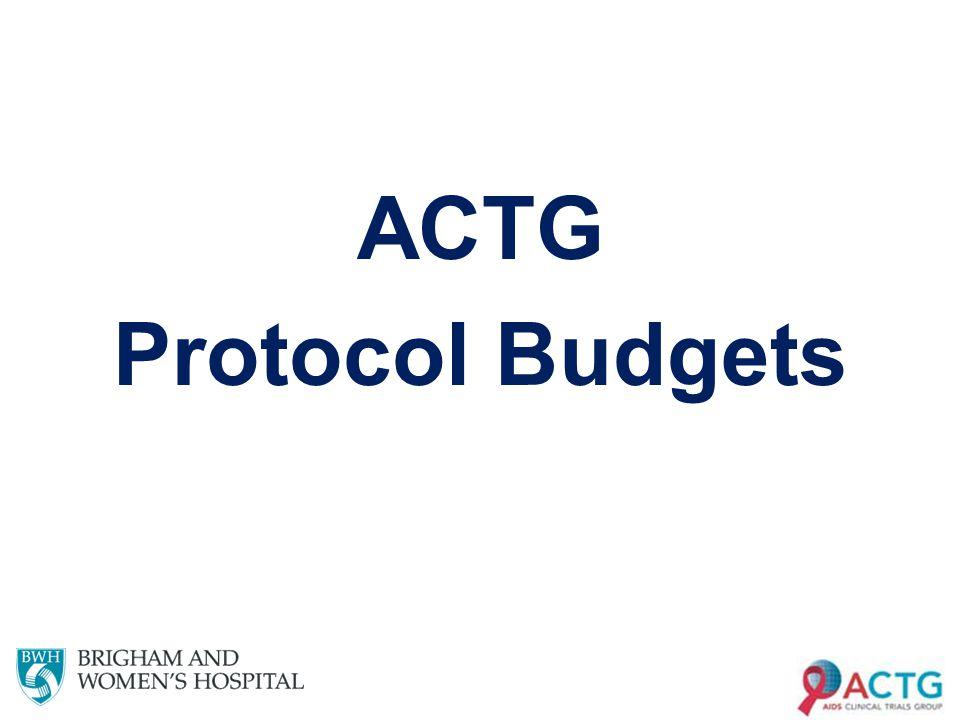 ACTG Protocol Budgets