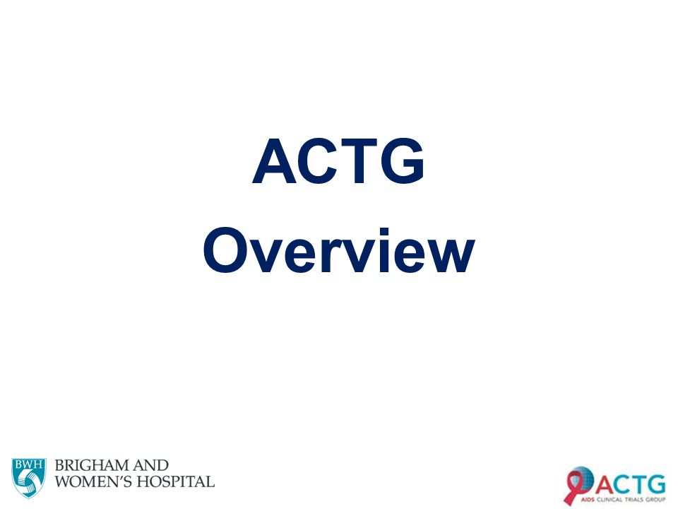ACTG Overview