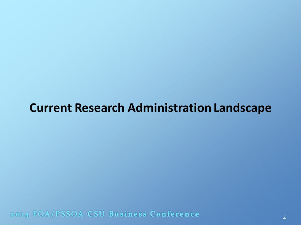 Current Research Administration Landscape 4