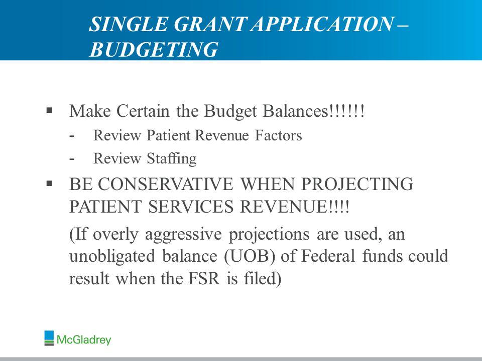  Make Certain the Budget Balances!!!!!.
