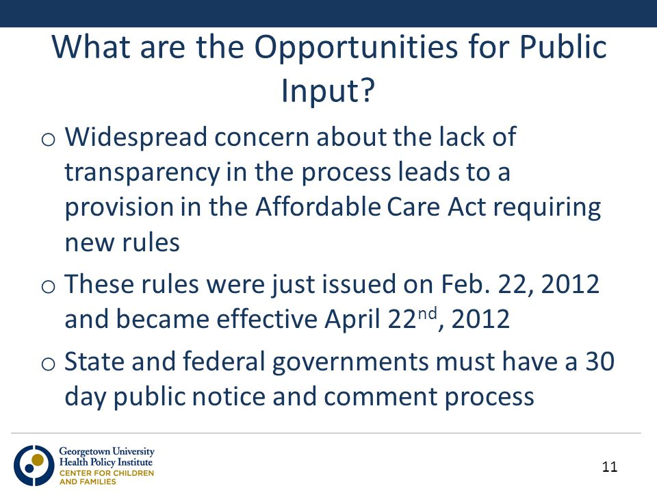 What are the Opportunities for Public Input.