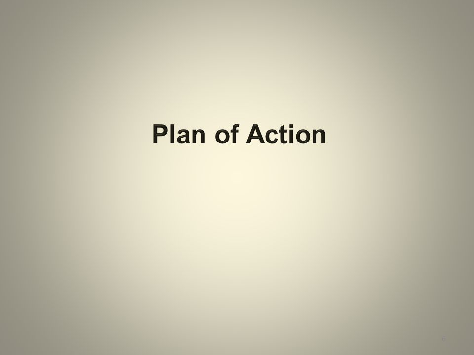 Plan of Action 6