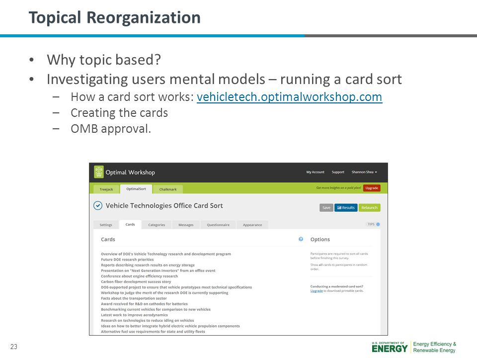 23 Topical Reorganization Why topic based.