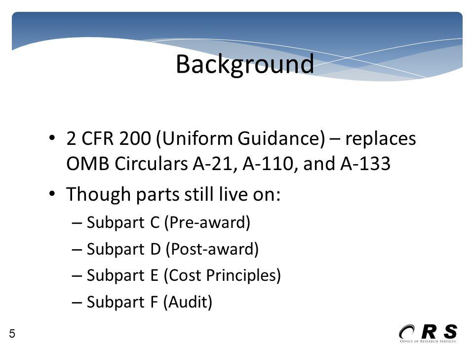 Procurement Grace period to July 1, 2016 General Standards Methods of Procurement UH – Eff.