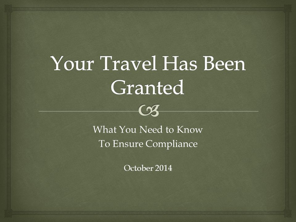 What You Need to Know To Ensure Compliance October 2014