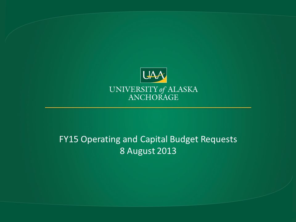UAA – The Next Three Years Strengthening our financial foundation in an era of Higher Ed reassessment and reform – Alaska State fiscal uncertainty and SDI initiatives FY14 – Major self examination – Academic program and administrative function prioritization – Space use assessment FY 15 – Continue with strategic reallocations using SDI as a guide FY 16 – Implement changes resulting from Prioritization project