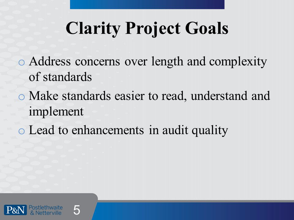 Clarity Format o Introduction o Objectives o Definitions o Requirements o Application Material o Appendices and Exhibits 6
