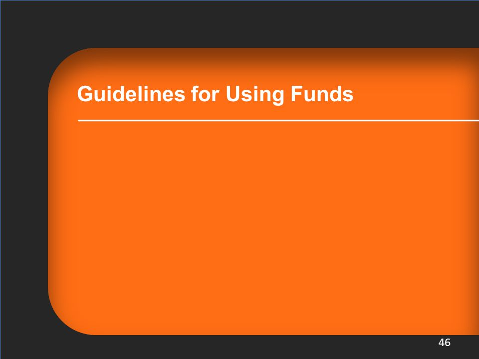 Guidelines for Using Funds 46