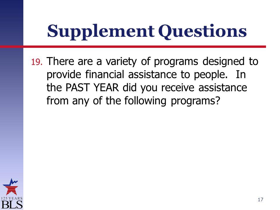 Supplement Questions 19.