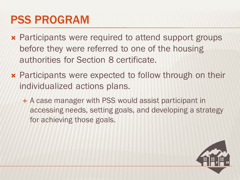  Participants were to keep their counselor apprised of changes in the family situation.