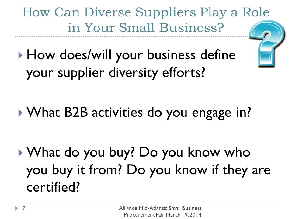 Who is a Diverse Supplier at the State of Delaware.