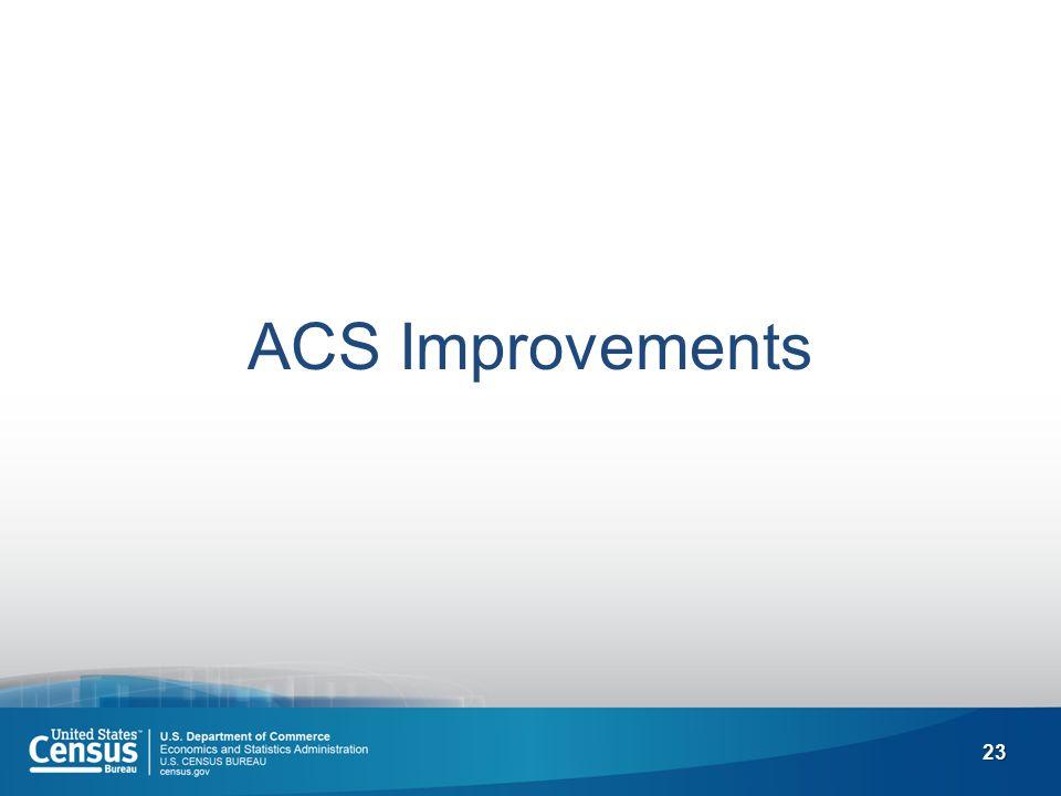 23 ACS Improvements