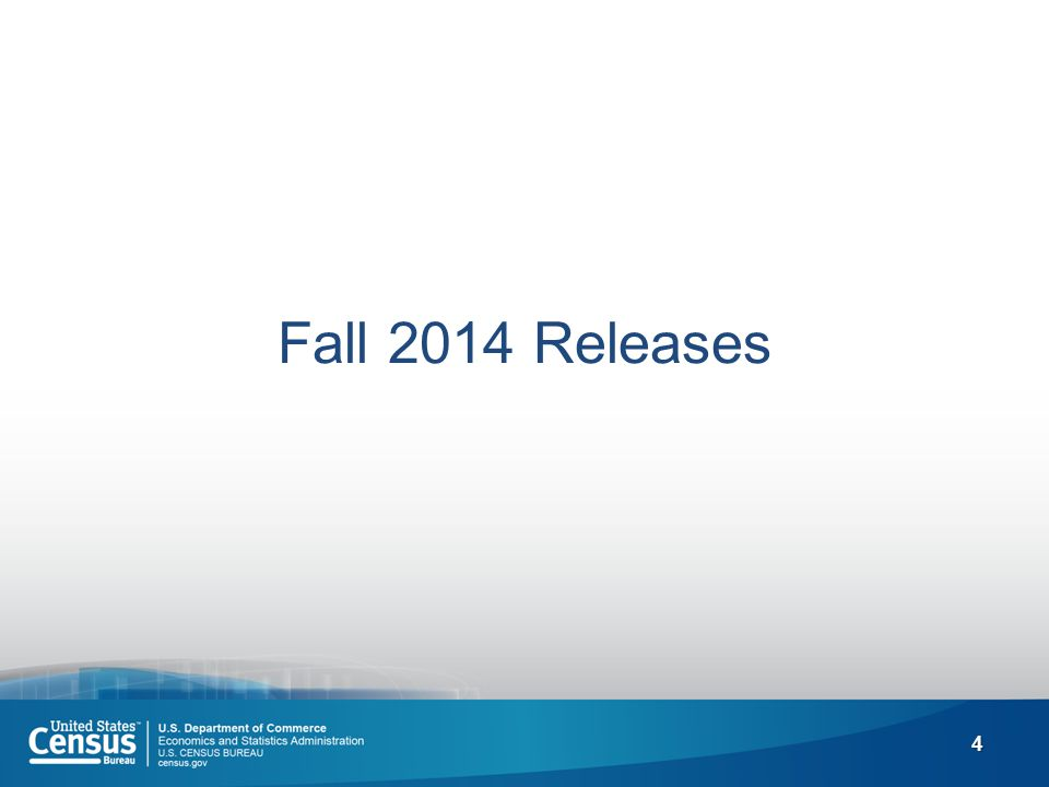 4 Fall 2014 Releases