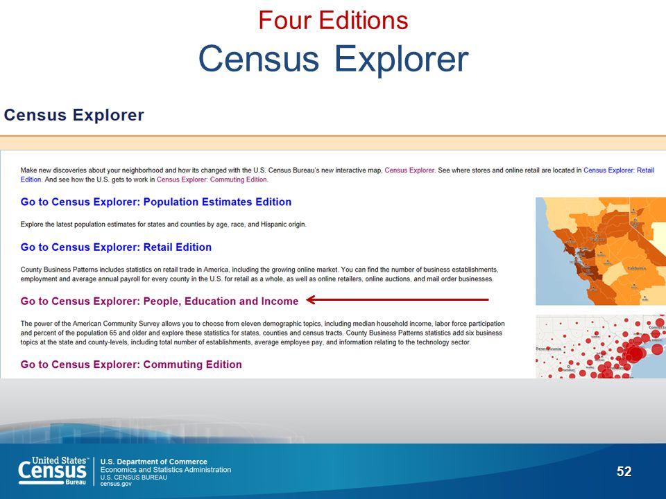 52 Four Editions Census Explorer
