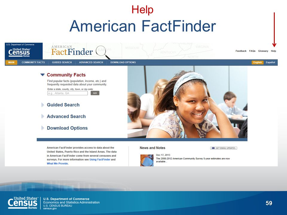 59 Help American FactFinder