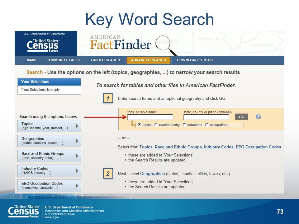 73 Key Word Search