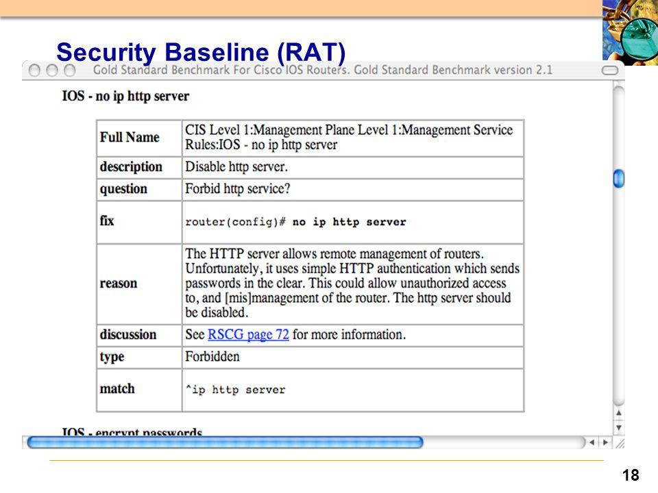 18 Security Baseline (RAT)