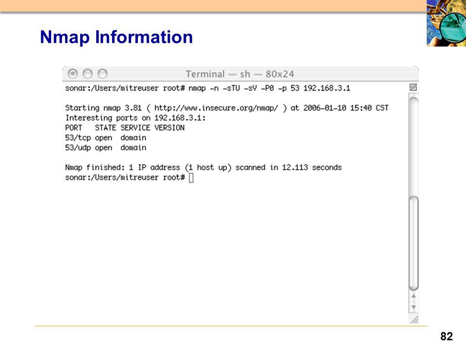 82 Nmap Information
