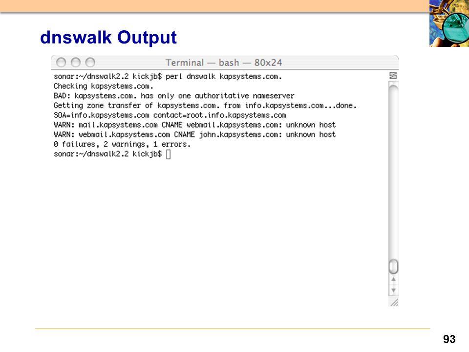 93 dnswalk Output