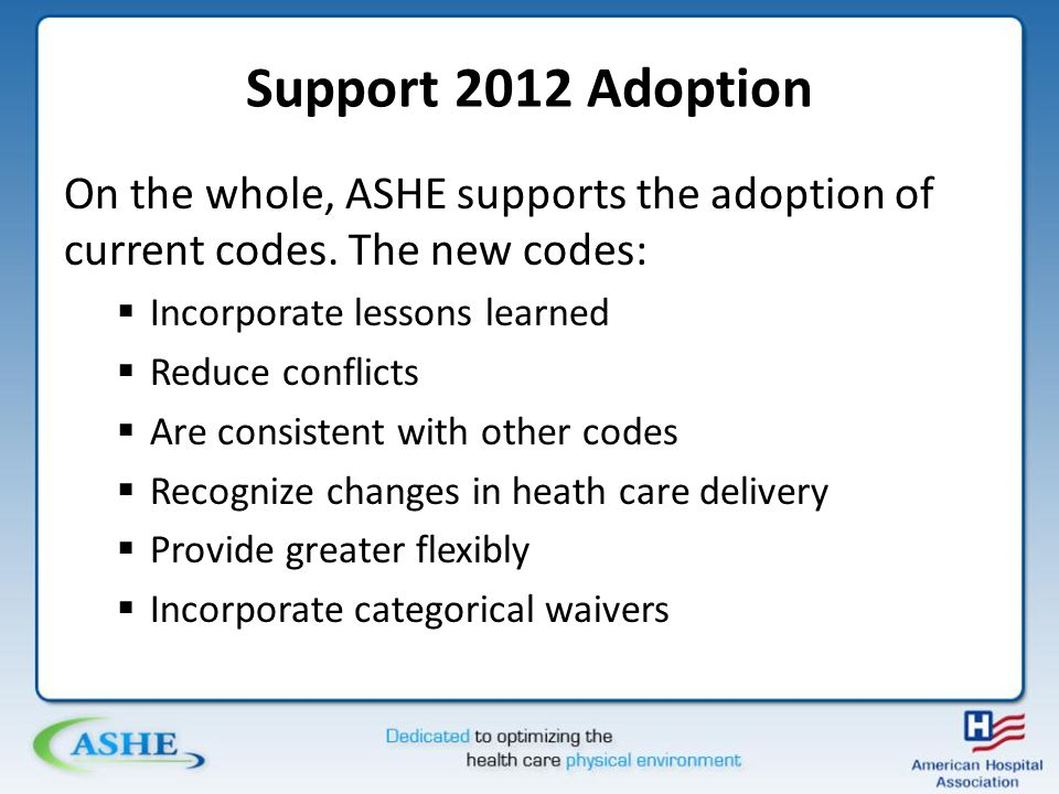 Support 2012 Adoption http://www.coalition4safety.org/