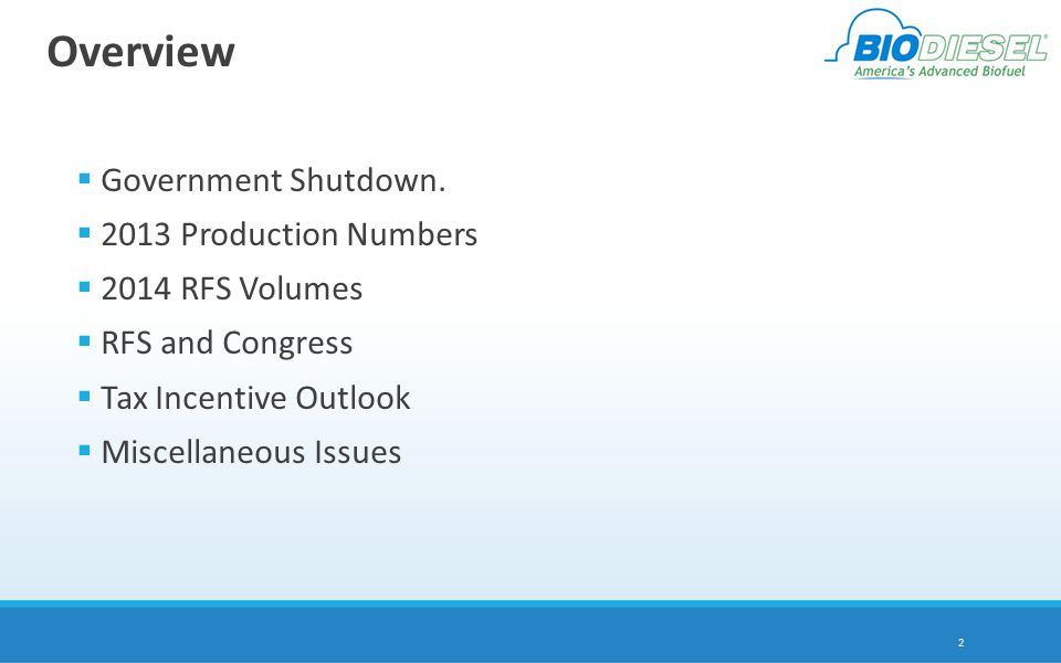 Overview  Government Shutdown.