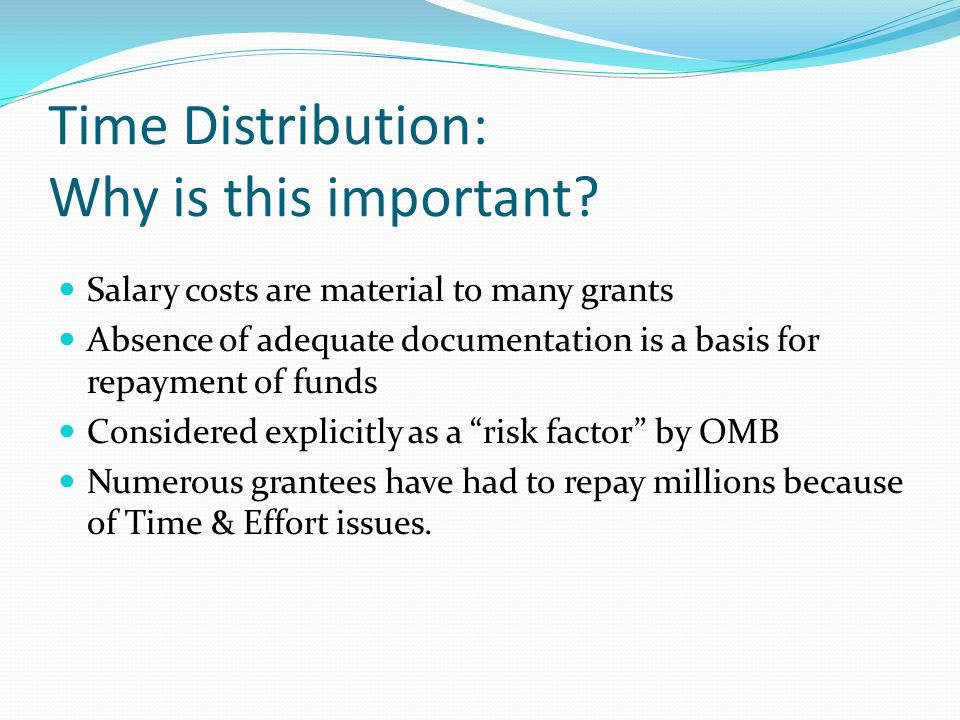 Time Distribution: Why is this important.