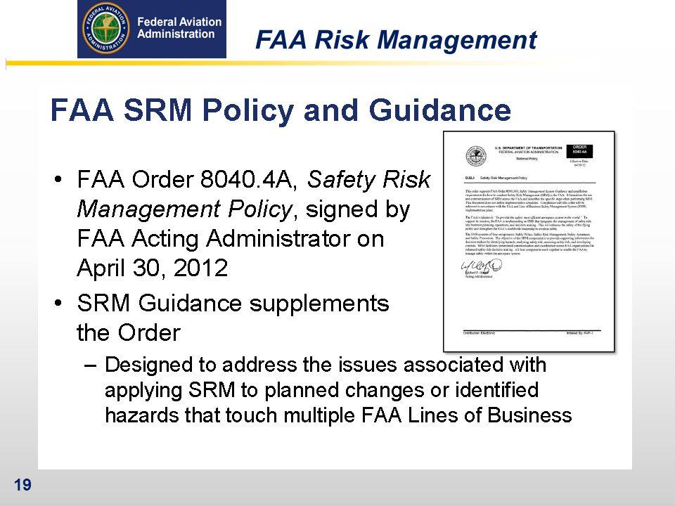 19 FAA Risk Management