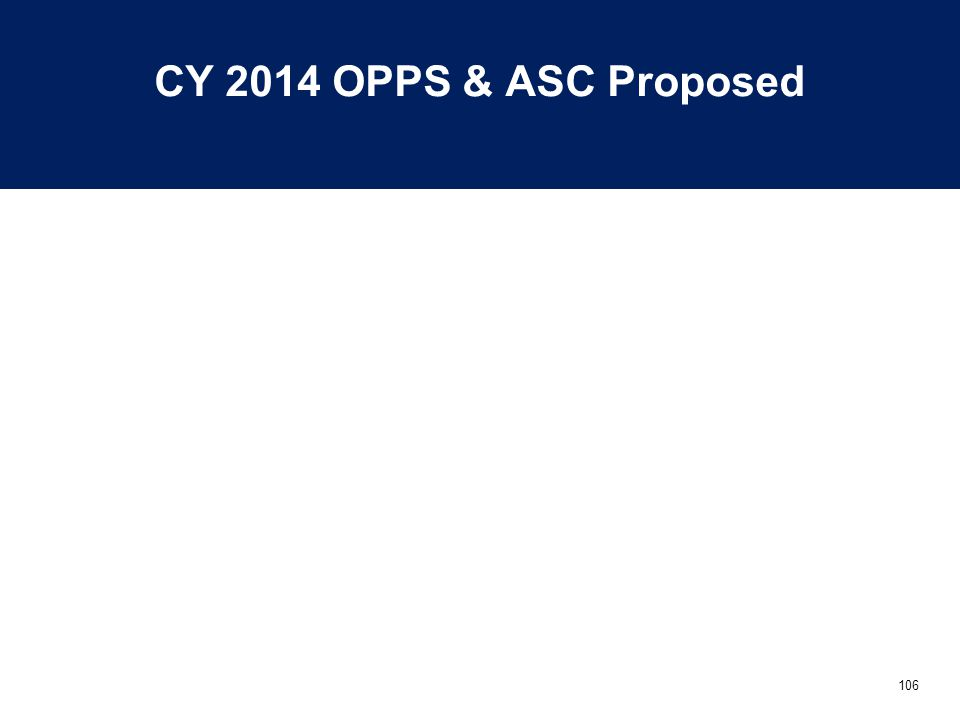 106 CY 2014 OPPS & ASC Proposed