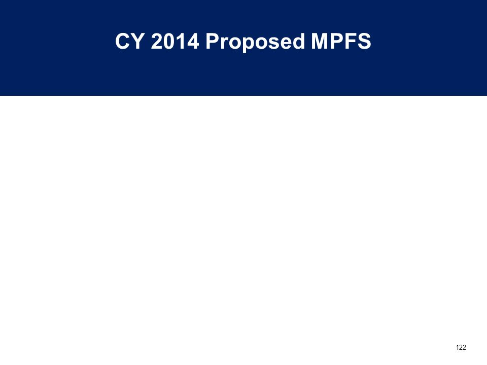 122 CY 2014 Proposed MPFS