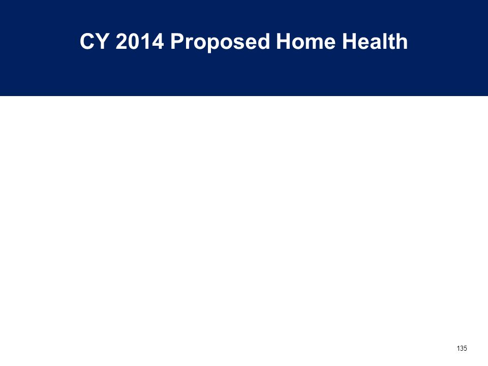 135 CY 2014 Proposed Home Health