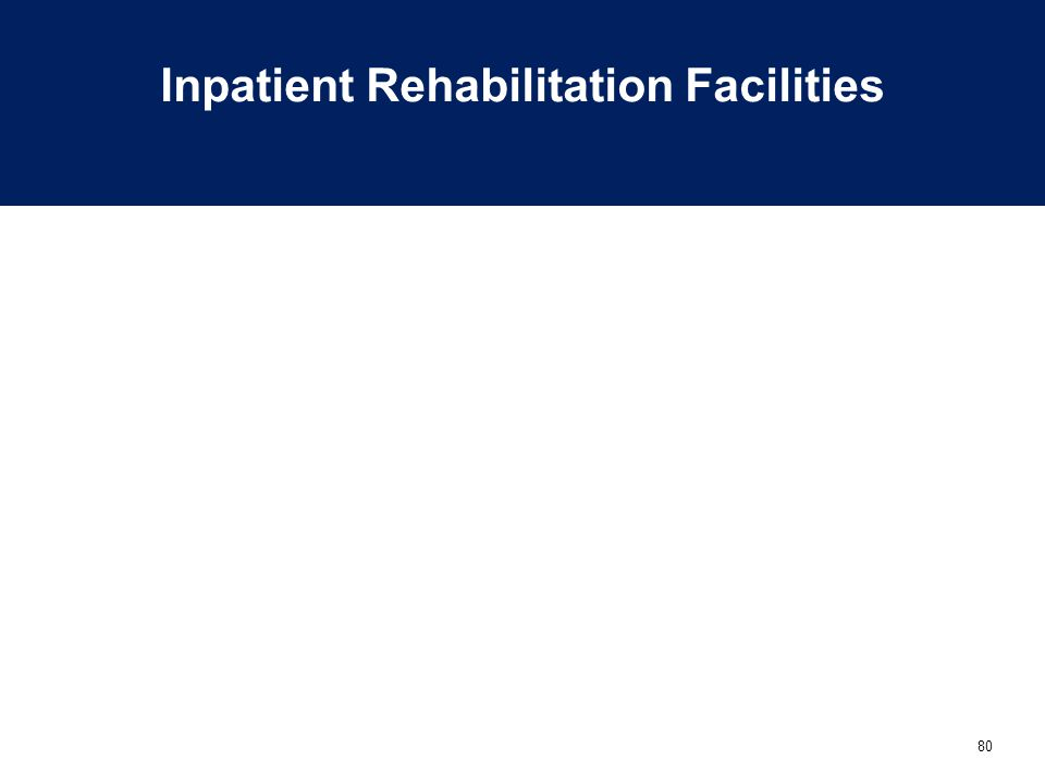 80 Inpatient Rehabilitation Facilities
