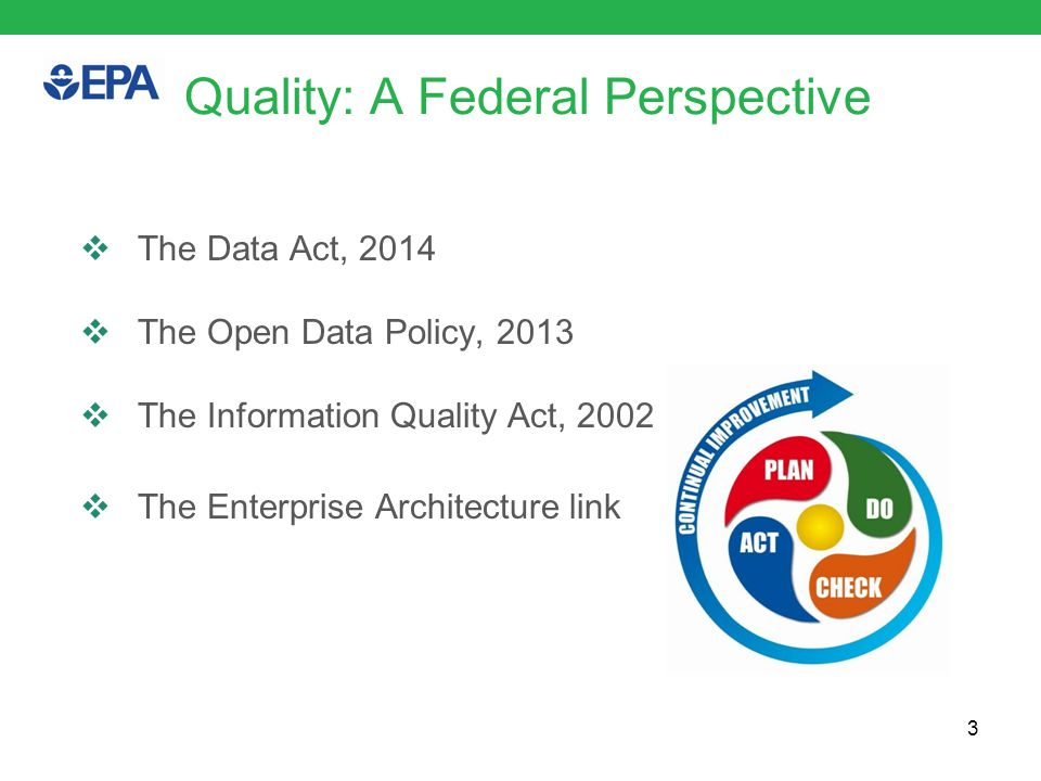 Federal Perspectives: The Data Act  The DATA Act: Digital Accountability and Transparency Act, Public Law No.