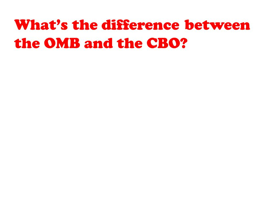 What's the difference between the OMB and the CBO