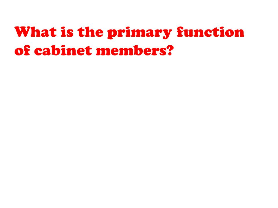 What is the primary function of cabinet members